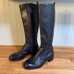 Nine West Black Leather 'Pierce' Boots